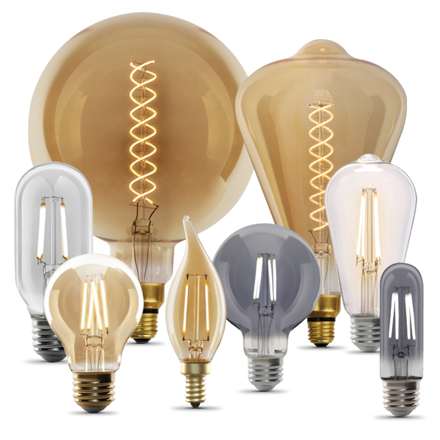 Feit Electric Decorative antique touch Vintage LED Edison Bulbs