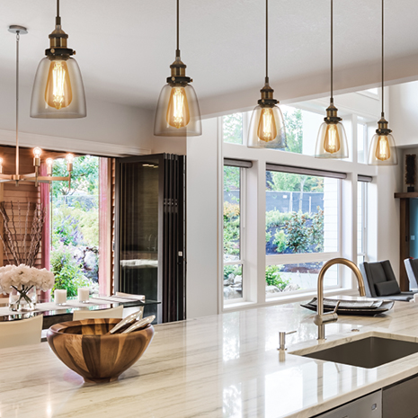Feit Electric kitchen traditional pendant Vintage LED Edison Bulbs