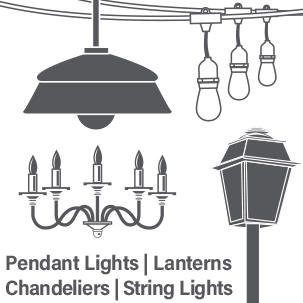 Feit Electric chandelier lantern pendant fixtures E26 Vintage LED Edison bulbs icon