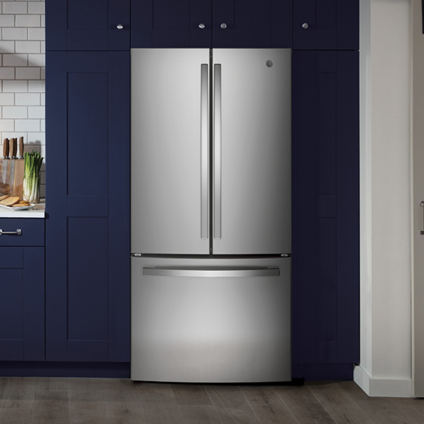The appliance is ready to use, installed in a contemporary kitchen.