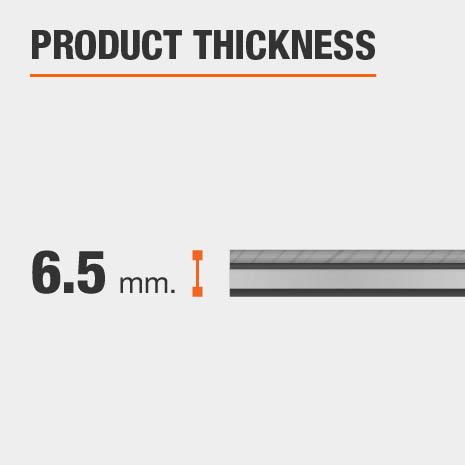 Luxury Vinyl Plank has a thickness of 6.5 mm