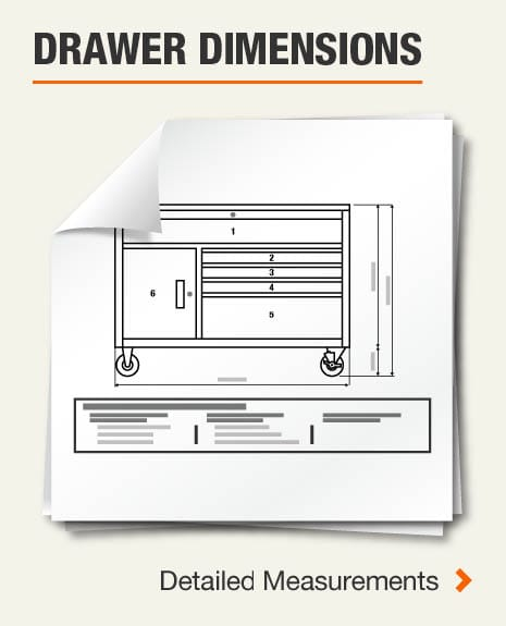 Drawer Dimensions (3) Large Drawer, (9) Medium Drawers,(11) Small Drawers