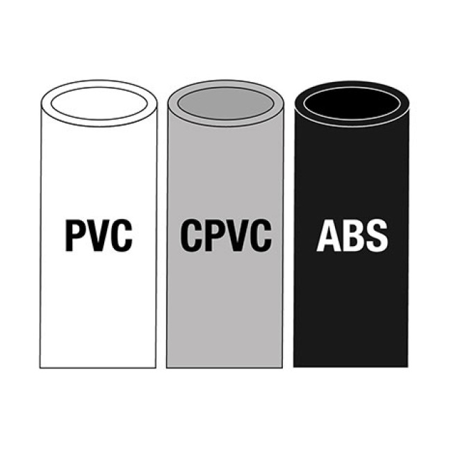 PVC, CPVC, and ABS pipe icon