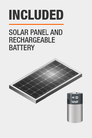 This light comes with Remote solar panel, recharegable battery.