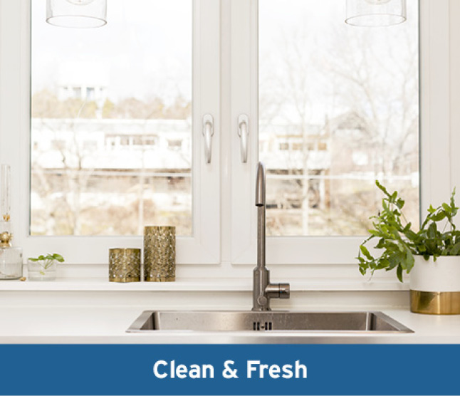 Image of clean white kitchen