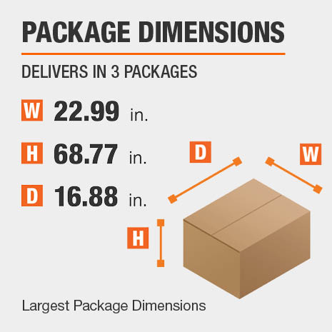 Bookcase Package Dimensions 22.99 inches wide 16.88 inches high