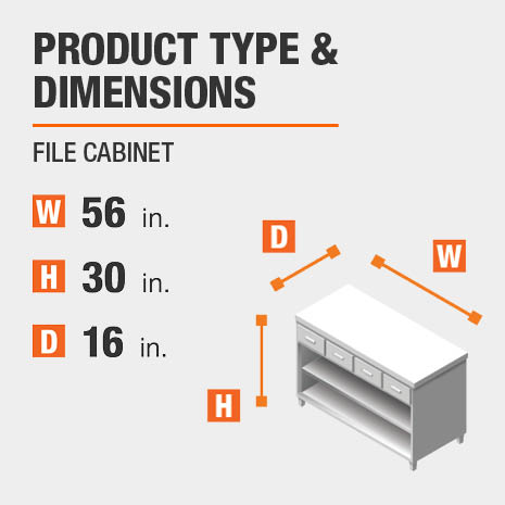 File Cabinet Product Dimensions 56 inches wide 30 inches high