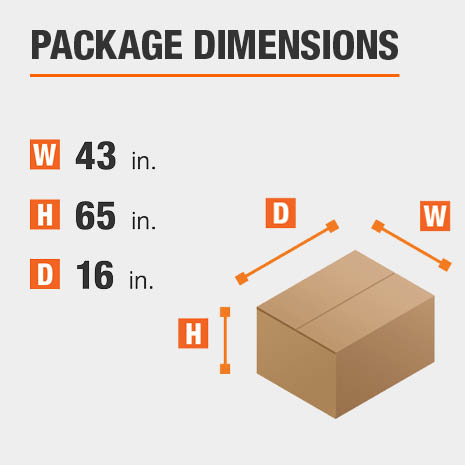 File Cabinet Package Dimensions 43 inches wide 16 inches high