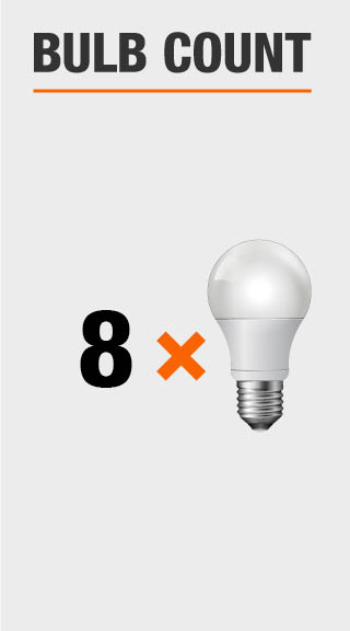 Ecosmart 60 Watt Equivalent A19 Non Dimmable Led Light Bulb Daylight 8 Pack B7a19a60wul38 The Home Depot