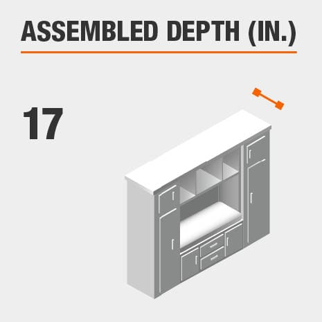 Assembled Depth 17 in.