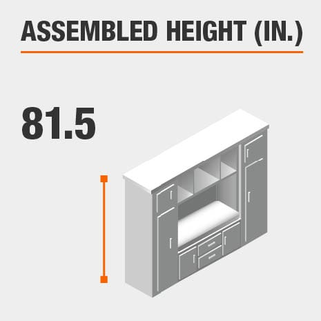 Assembled Height 81.5 in.