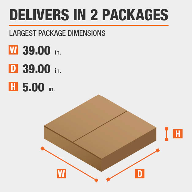 Package Dimensions 39 inches wide 5 inches high