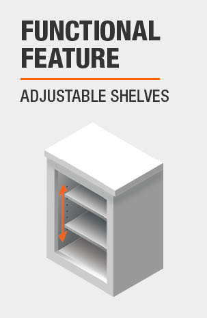 Bookcase features Adjustable Shelves