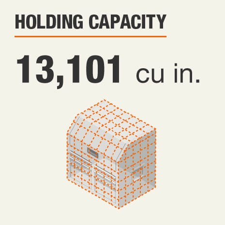 Holding Capacity 13101 Cubic Inches