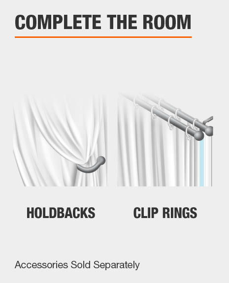 Match with Curtain Clip Rings and Curtain Holdbacks