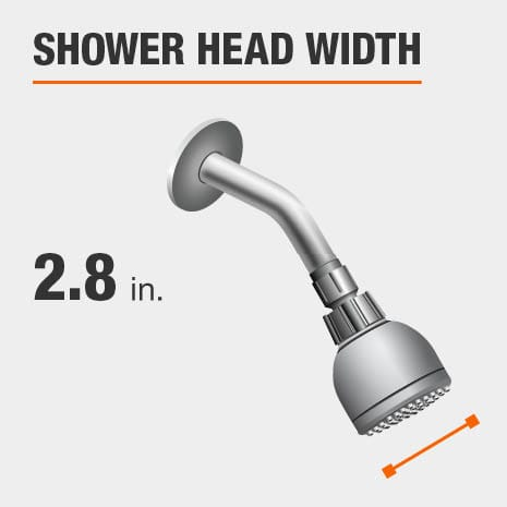 Showerhead is 2.8 Inches Wide