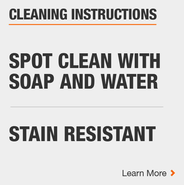 Area Rug is stain resistant and can be spot-cleaned with soap and water