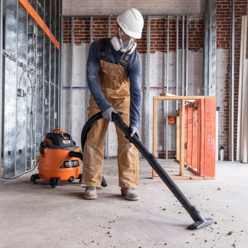 Use for capturing fine particles such as drywall dust and fine powders.