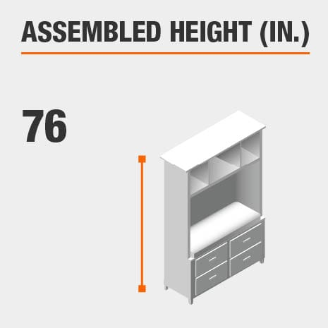 Assembled Height 76 in.
