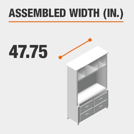 Assembled Width 47.75 in.