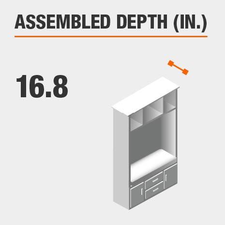 Assembled Depth 16.8 in.