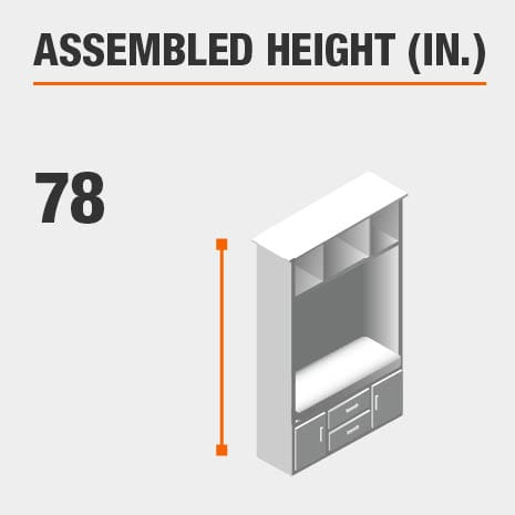 Assembled Height 78 in.
