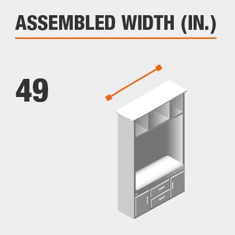 Assembled Width 49 in.