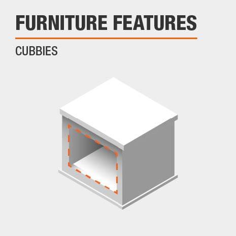 Furniture Features Cubbies