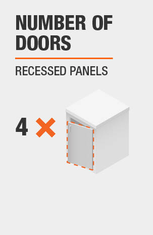 This product includes four doors with recessed panels