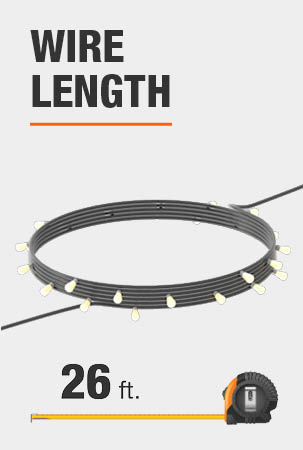 This string light is 26 feet long.