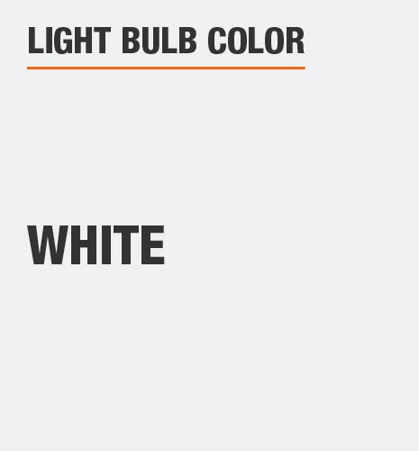 Light bulb color is white