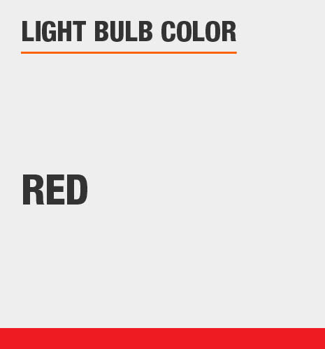 Light bulb color is red