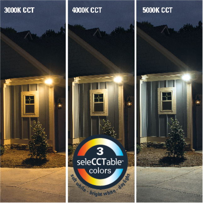 Choose from 3 field-selectable CCT options from soft white to daylight.