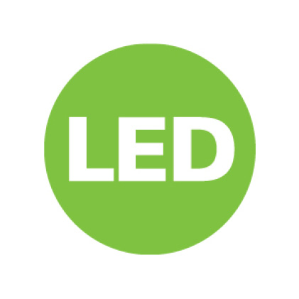 Keep your space efficient and up-to-code with integrated LED technology.