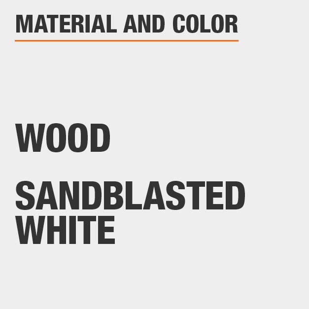 Sandblasted White Wood Rectangular Dining Table