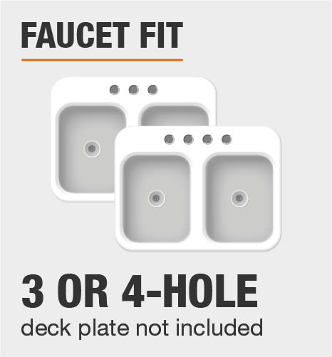 Faucet Fit 3 or 4 Hole