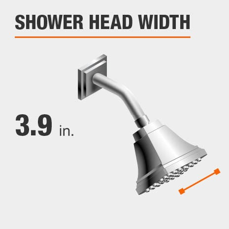 Showerhead is 3.9 Inches Wide