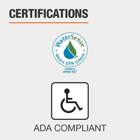 IAPMO Certified and ADA Compliant