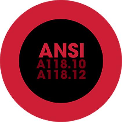 ANSI A118.10 A118.12