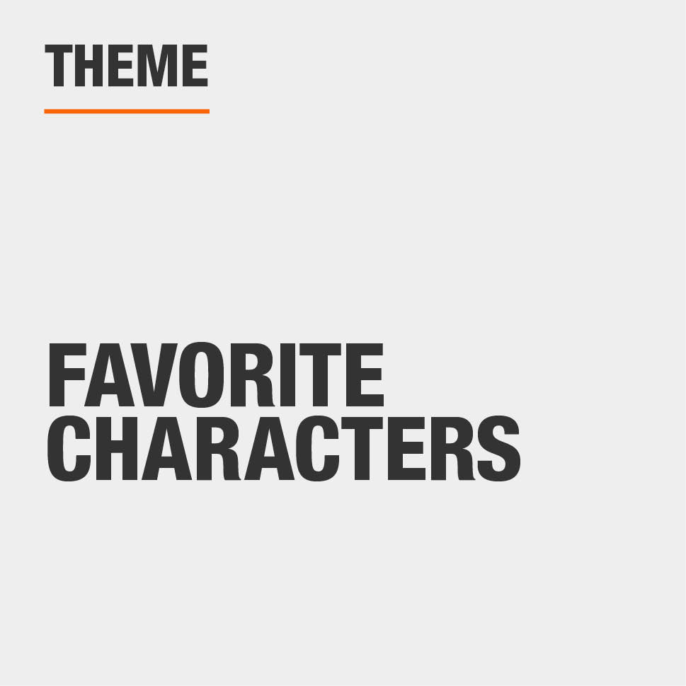 Item Theme is Favorite Characters