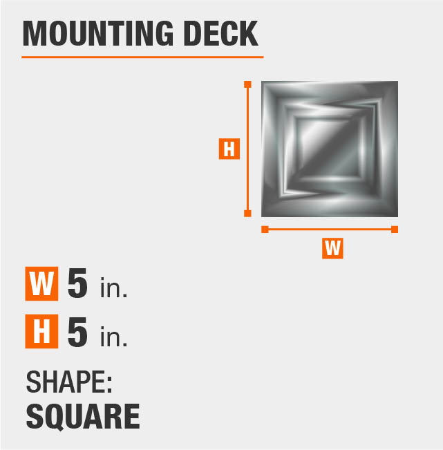 Square Mounting Deck