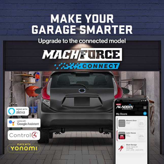 Genie MachForce Screw Drive Garage Door Opener can be upgraded with Aladdin Connect