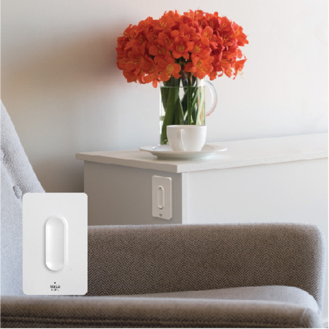 The Anyplace Dimmer installs anywhere with no wiring or electrical work required.