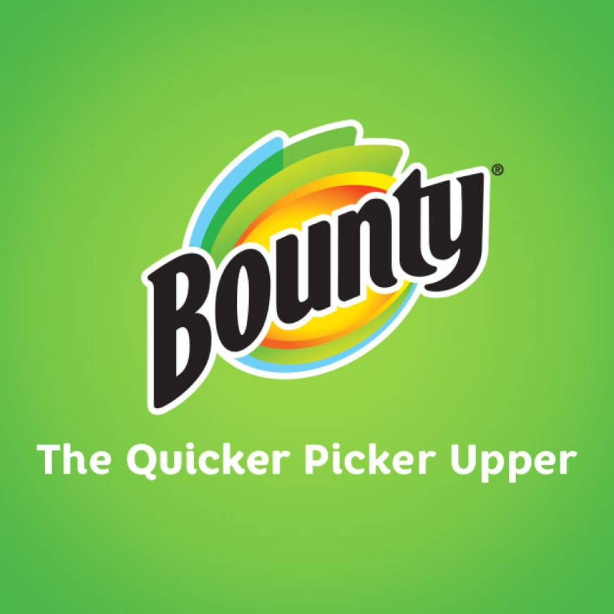 Bounty paper towels pick up spills quicker so you can get back to more important things.