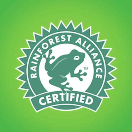 Bounty partners with leading conservation organizations, such as the Rainforest Alliance.