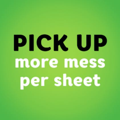 Call us the one sheet wonder! Bounty cleans everyday messes with as little as one sheet.