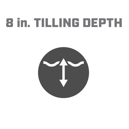 Icon image of 8 inch tilling depth