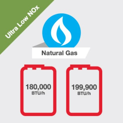 Fuel Type Ultra Low NOx Natural Gas