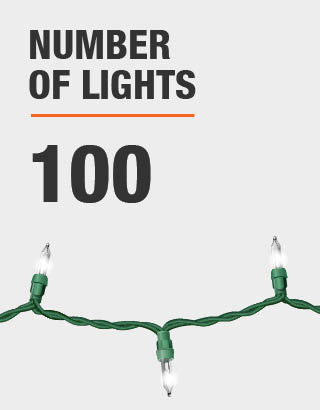 The number of lights is 100