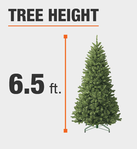 Home Accents Holiday 6.5 ft. Pre-Lit Greenland Potted Artificial ...